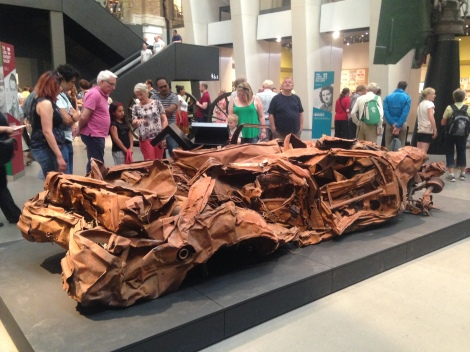 Imperial war museum, suicide bomb car from baghdad